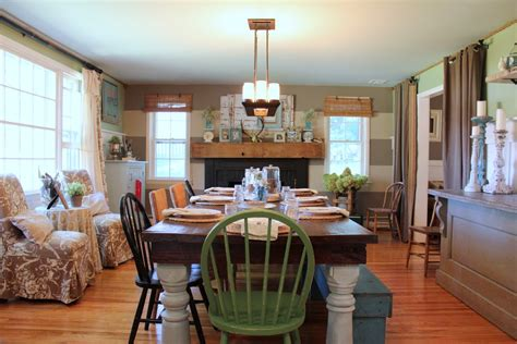terrific farmhouse dining table decorating ideas images in