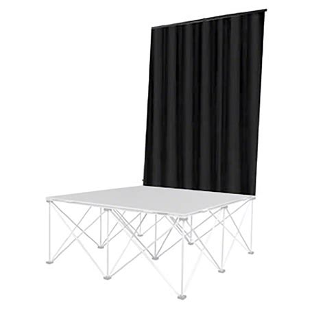 portable stage curtains intellistage backdrop curtain 4 wide by 8 high isbdc4