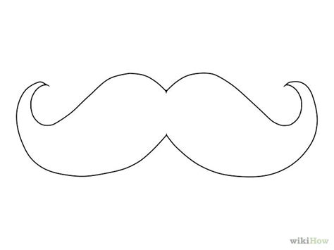 Mustache Template Outline by Draw A Mustache Planner Diy Sidewalk Chalk And Journal Ideas