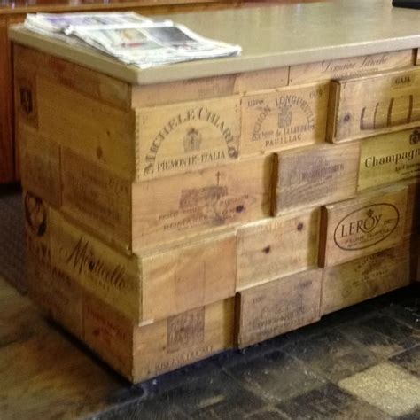 Kitchen Backsplash Cheap wine box wine crates for kitchen island counter or bar