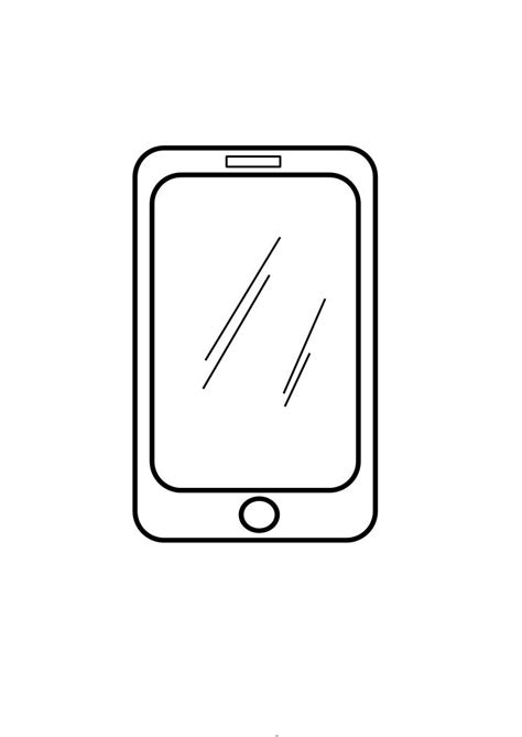 Iphone X Coloring Page by Iphone Coloring Pages Clipart Best