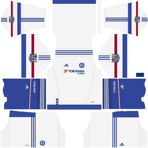 chelsea kit dream league premier ingiltere ligi dream leage 16 forma kits wid10