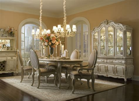 Michael Amini Dining Room Set Michael Amini Lavelle Blanc Antique White Finish Dining Room Set By Aico