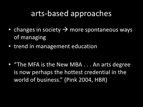 Mfa New Mba Daniel Pink by Improvisational Theatre In Management Education Exploring