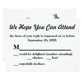 small rsvp cards small rsvp invitations response card