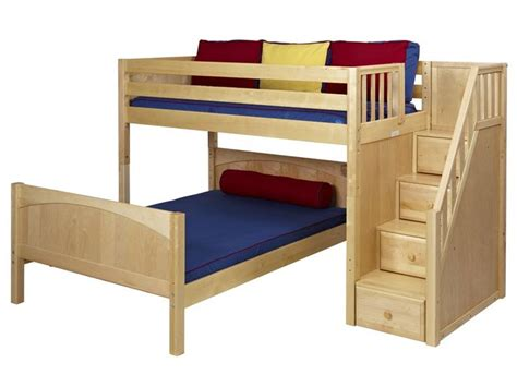 Mid Bunk Bed Wiggle Mid Height L Shaped Loft Bed With Stairs 2 115 00 Stuff Pinterest Loft Beds