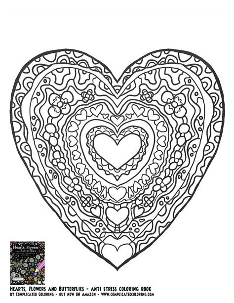 printable coloring pages for adults hearts coloring pages plicated coloring pages for adults