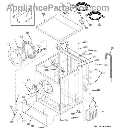 ge washer parts diagram ge wh13x78 valve water appliancepartspros
