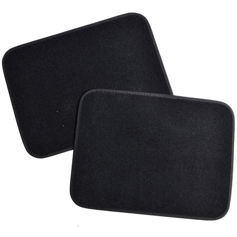 deluxe 4 piece high quality thick plush auto carpeted floor mats black ebay