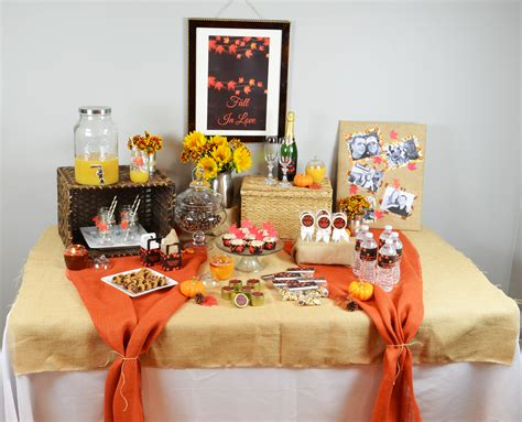 autumn bridal shower themes fall in bridal shower theme candles and favors