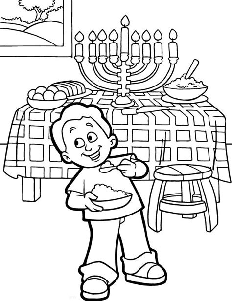 free printable hanukkah coloring pages for kids best