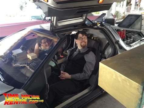 who was delorean married to las vegas wedding in time machine rental