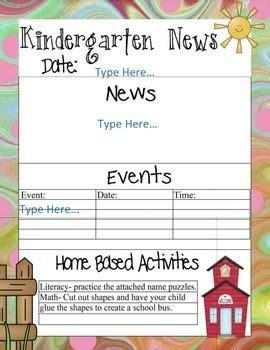 The 25 Best Kindergarten Newsletter Ideas On Pinterest Preschool Newsletter Templates Parent Math Newsletter Template