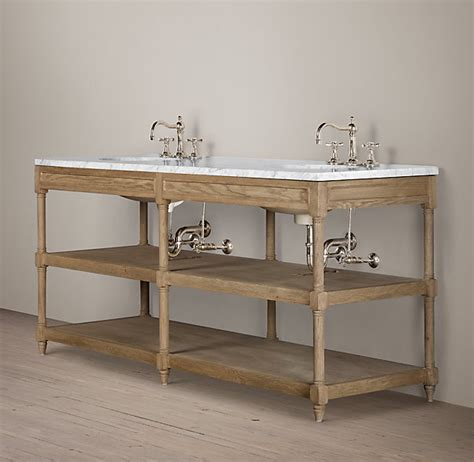 home decorators vanities restoration hardware weathered oak double washstand