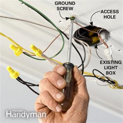 Installing Light Fixture Ground Wire How To Wire A Finished Garage The Family Handyman