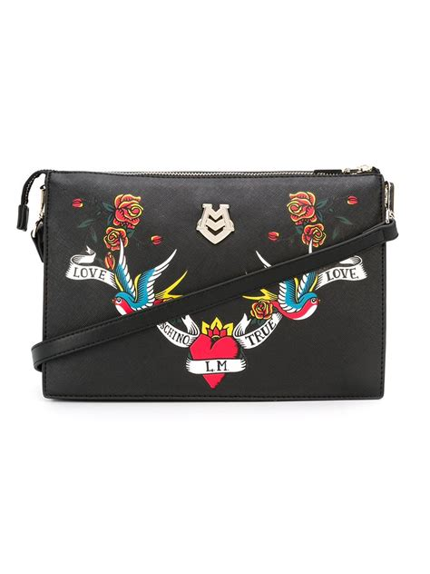 Embroidered Bag moschino embroidered bag in black lyst
