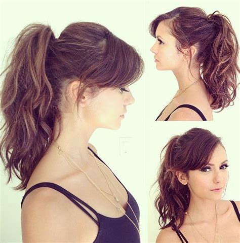 ponytail haircut for short layers front an top best 25 side bangs ideas on pinterest hair side bangs
