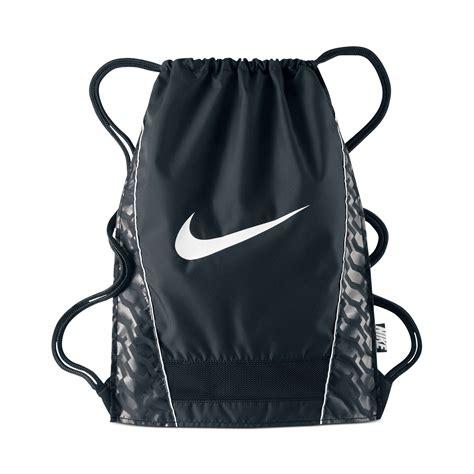 nike brasilia sack in black for lyst
