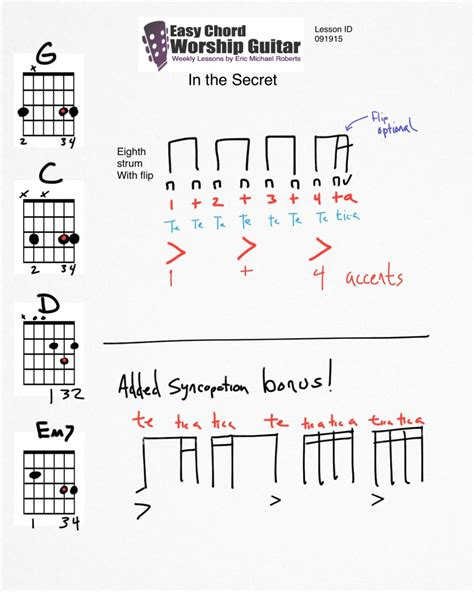secret easy chords in the secret lesson id 091915 easy chord worship guitar