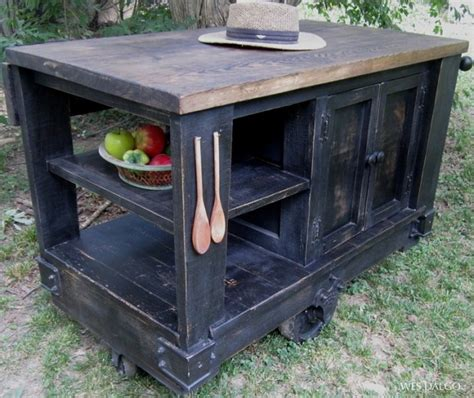 homemade kitchen island plans 30 rustic diy kitchen island ideas
