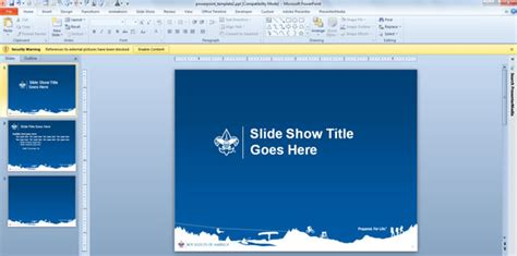 boy scout powerpoint template boy scouts their own powerpoint template designs