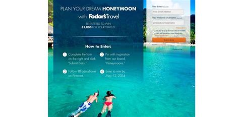 Honeymoon Sweepstakes 2017 - fodor s dream honeymoon sweepstakes