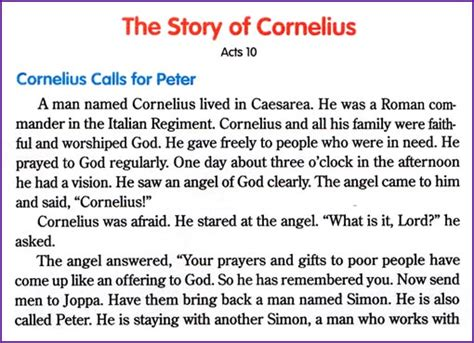 who was story the story of cornelius korner biblewise