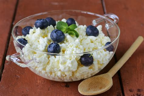 cottage cheese and blueberries