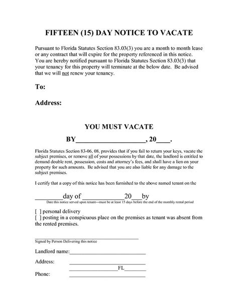 3 day eviction notice florida template printable 3 day eviction notice florida template free