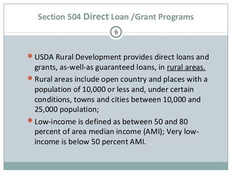 section 502 guaranteed rural housing loan program direct rural housing loan usda section 504 home repair