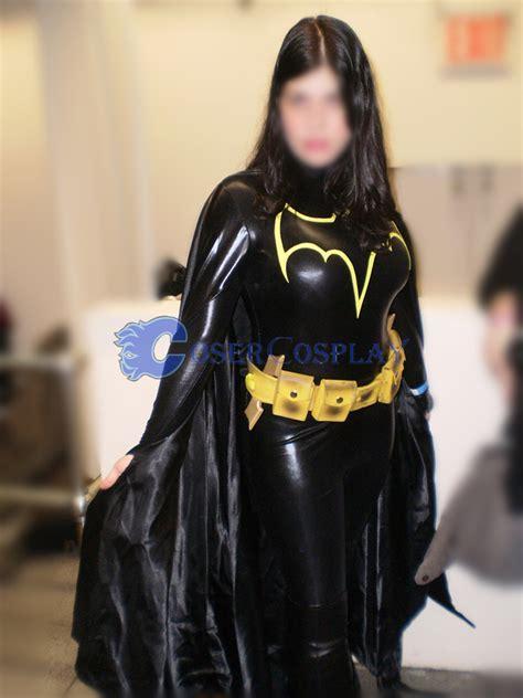 Batman Black Costume batman costume black shiny spandex cosercosplay