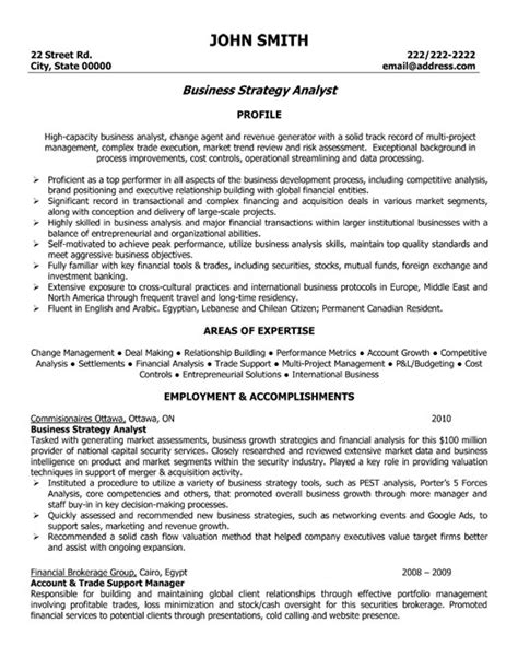 Business Resume Templates by Business Strategy Analyst Resume Template Premium Resume Sles Exle