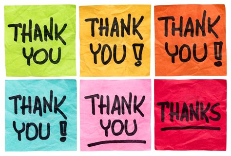 i can say and thank you books how often do you say thank you to individual members of