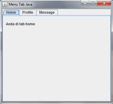 java swing tab program java swing sederhana menu tab jin toples programming