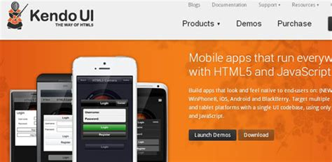 kendo ui for mobile top javascript frameworks for mobile web development