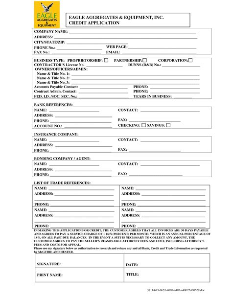Generic Credit Application Form Business Best Photos Of Generic Credit Application Form Sle Credit Application Form Generic