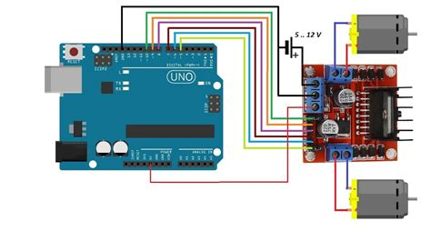 Arduino Motor Dcstepper Dan Servo Shield L293d smart robot car part 4 use arduino and l298n driver to