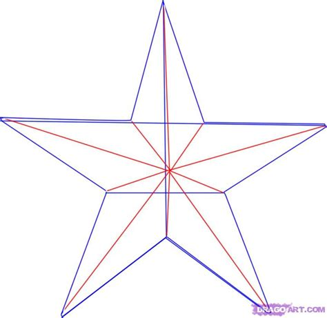 printable nautical star how to draw a nautical star step by step tattoos pop