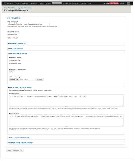theme drupal pdf pdf using mpdf drupal org