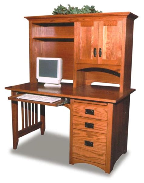 Mission Style Amish Computer Desk Amish Office Furniture Mission Style Computer Desk