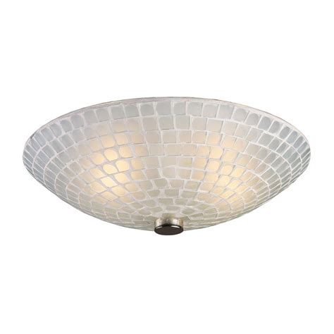 Satin Nickel Ceiling Light Plc Lighting 4 Light Satin Nickel Ceiling Semi Flush Mount Light With Matte Opal Glass Cli
