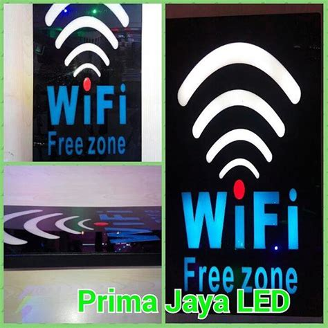 Jual Saklar Wifi jual led tulisan wifi free zone harga murah jakarta oleh