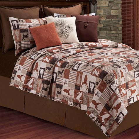 rustic quilt bedding hunter rustic wildlife quilt bedding