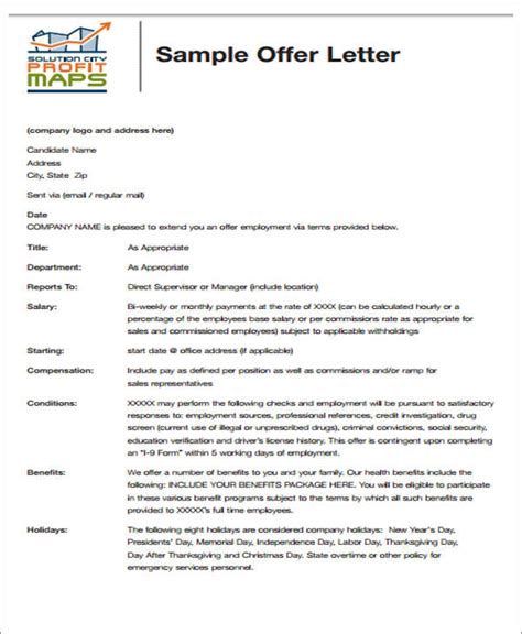 appointment letter format software engineer 34 offer letter format templates pdf doc free