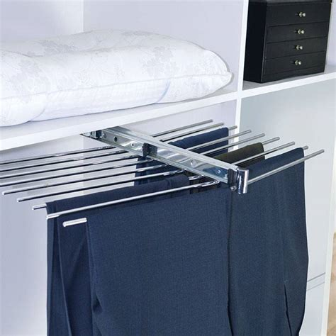 Slide Out Pant Rack by Trousers Rack Top Mounted Slide Out Row Pant Rack