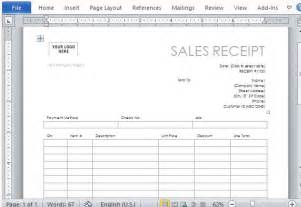 business receipt template word one page sales receipt form template for word