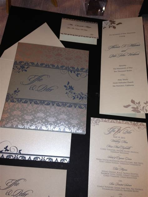ritz carlton wedding invitations modern luxury weddings at ritz carlton san francisco with hyegraph invitations calligraphy