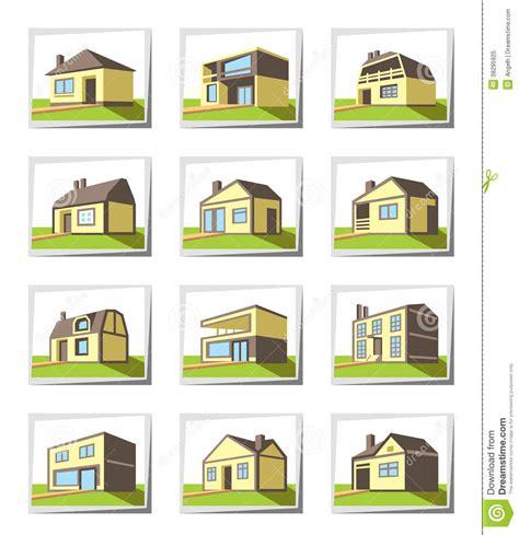 Types Of Houses by Vari Tipi Di Case Fotografia Stock Libera Da Diritti