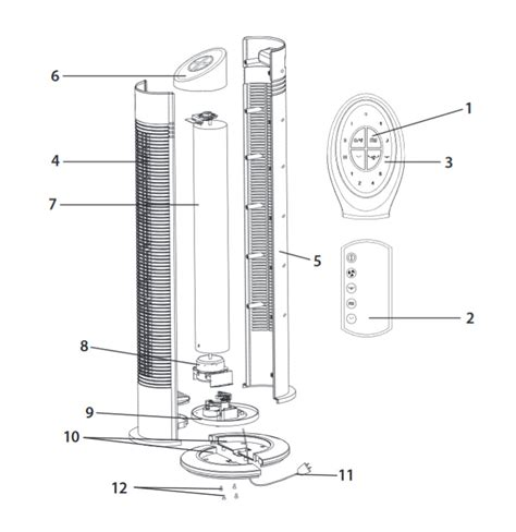 oscillating tower fan motor wiring diagram wiring