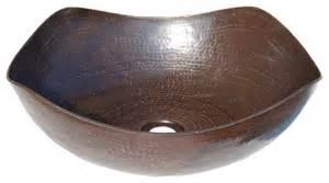 Bathroom Sink Edges Arched Edges Copper Vessel Sink Antique Copper